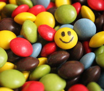 Foto caramelline colorate
