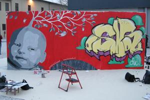 Murales di Gnob e Lauraballa
