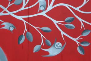 Particolare del murales di Lauraballa