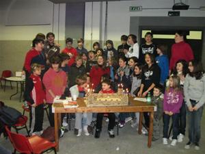 Foto di gruppo dei ragazzi che hanno partecipato all'evento