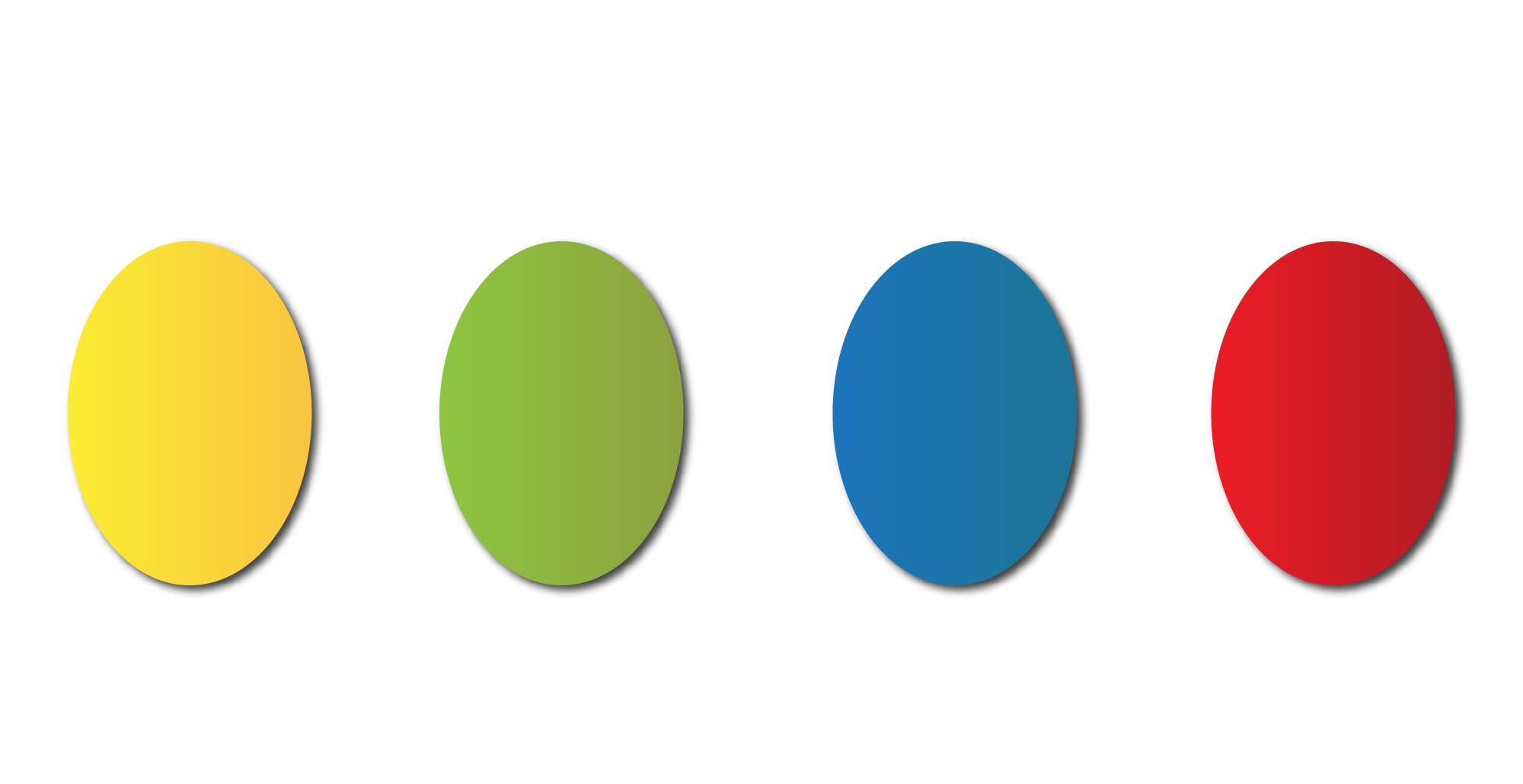Grafica con quattro uova colorate (una gialla, una verde, una blu e una rossa)