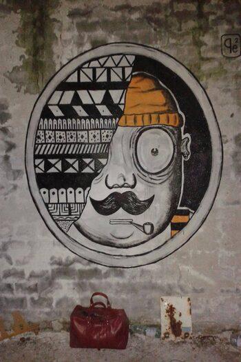 Murales ciclope di Pepe coibermuda - ph Rosetta Bonati