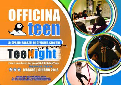 Banner eventi conclusivi Officina Teen 2015/2016