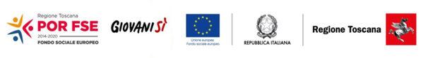 Loghi: POR FSE, Giovanisì, Unione Europea, Repubblica Italiana, Regione Toscana