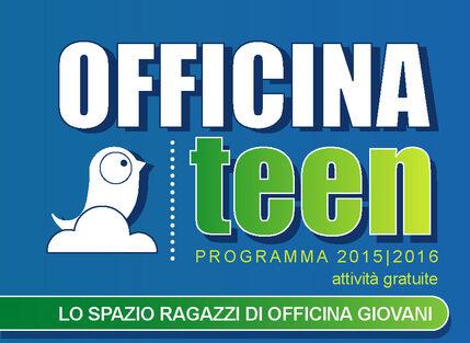 Banner programmazione Officina Teen 2015/2016