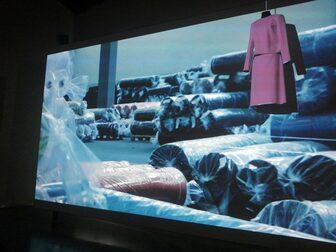 Installazione multimediale al Museo del Tessuto