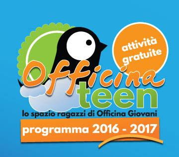 Banner programmazione Officina Teen 2016/2017