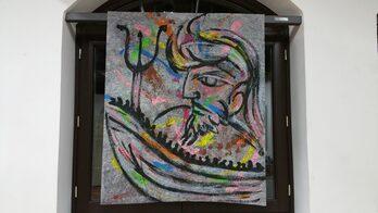 varie immagini dei quadri e delle opere realizzate dall'artista Carlo Gori