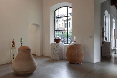 Foto della Sala Campolmi con gli oggetti in mostra